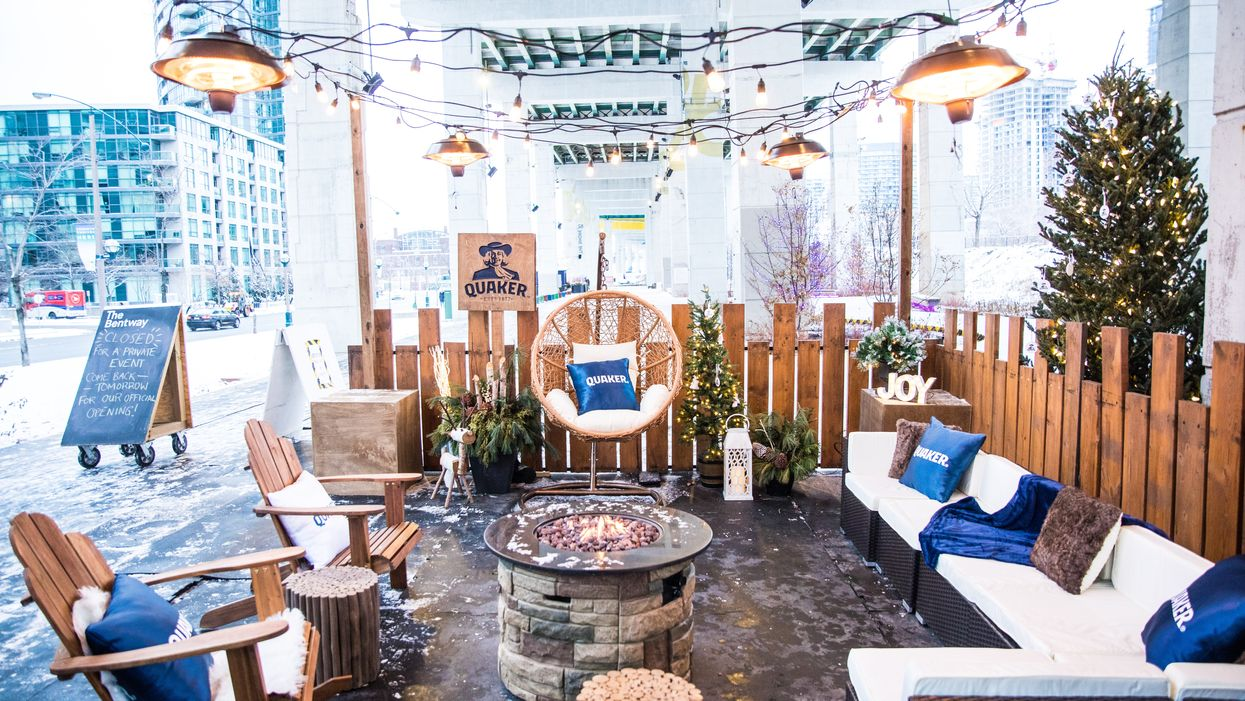 Toronto's Bentway Skate Trail Is Getting A Cozy Quaker Lounge For The Holidays