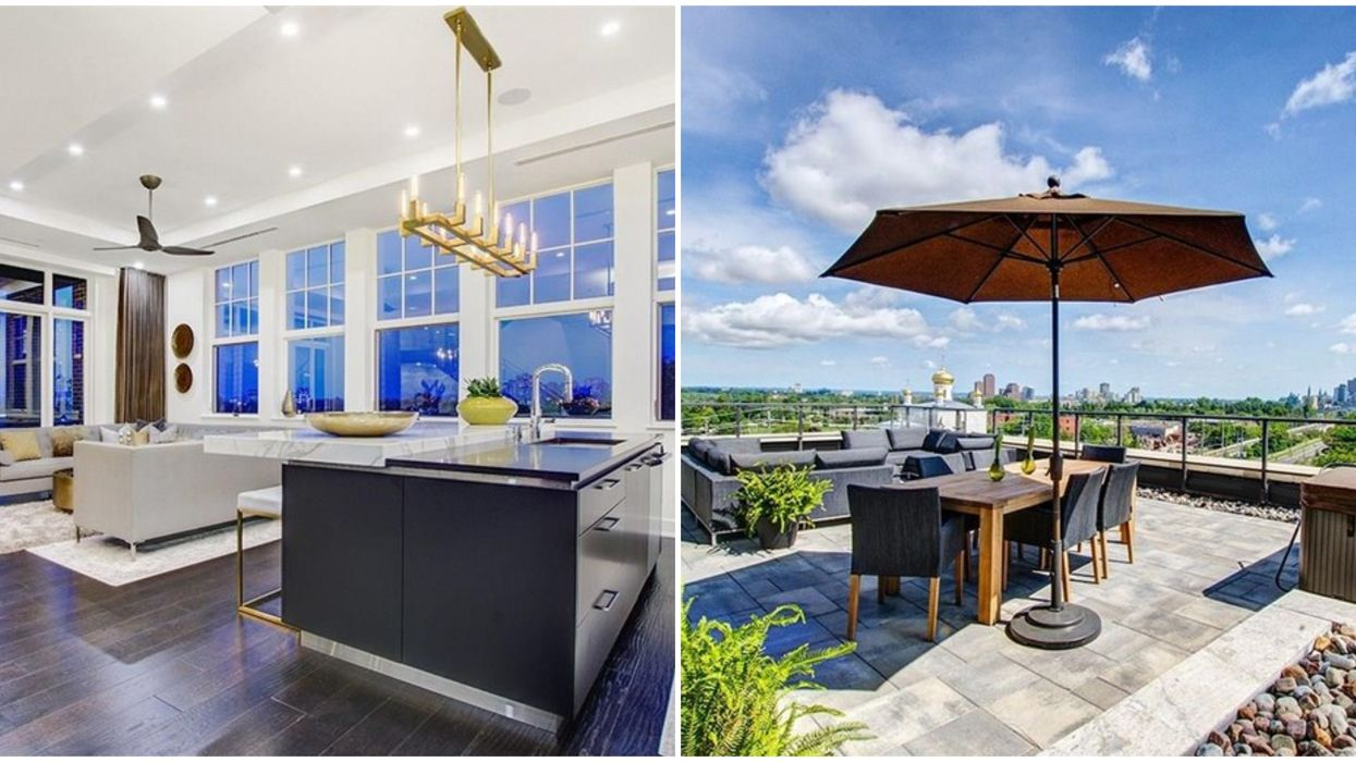 An Ottawa Penthouse For Sale For $1.5 Million Is Open Concept & Has A Rooftop Terrace