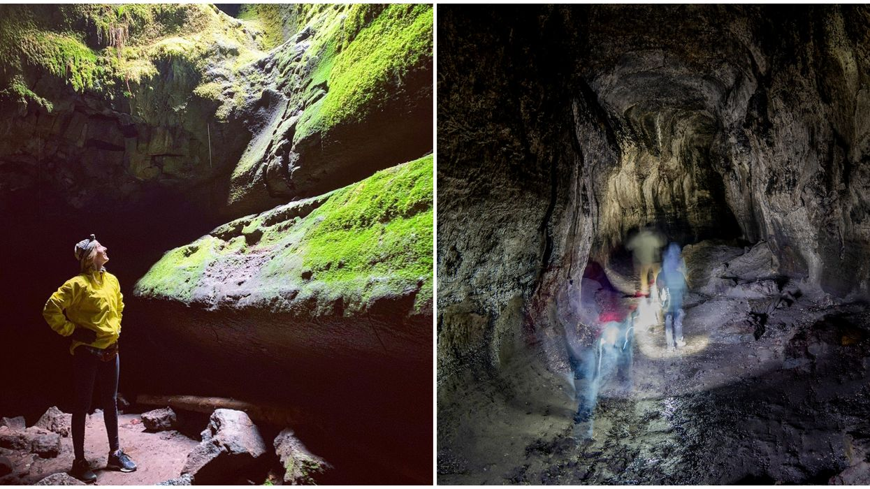 This Hidden Hike Through A Lava Tube In Washington Will Make You Feel Like Indiana Jones