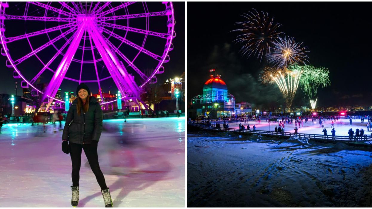 The Old Port Of Montreal Is 2.5 km Of Winter Fun With A Skating Rink& Lots Of Activities