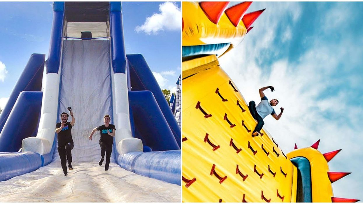 Calgary's Inflatable Obstacle Course Is An Adults-Only Massive Bouncy Castle Playground