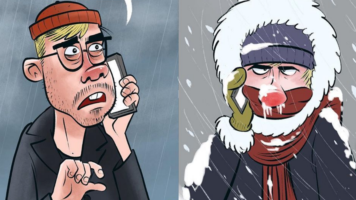 Cartoon About Vancouver Winter Points Out That Vancouverites Are Total Babies