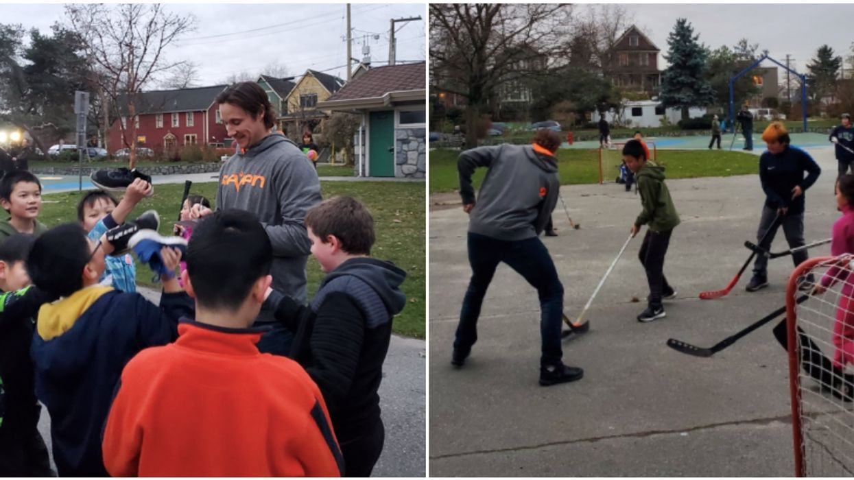 Canuck Jay Beagle Surprised A Bunch Of Eastside Kids With A Hockey Sesh (VIDEOS)