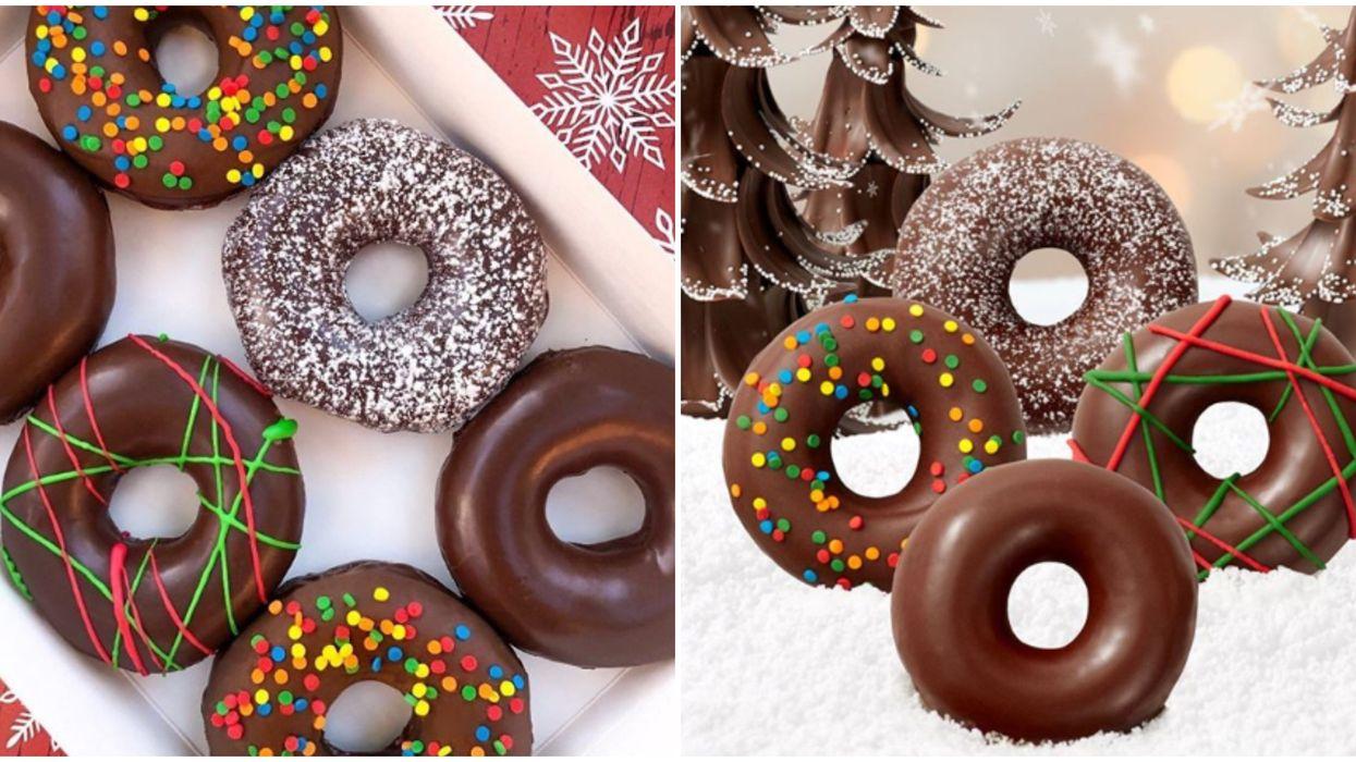 Krispy Kreme Canada's Chocolate Glazed Wonderland Has 3 New Donuts For The Weekend
