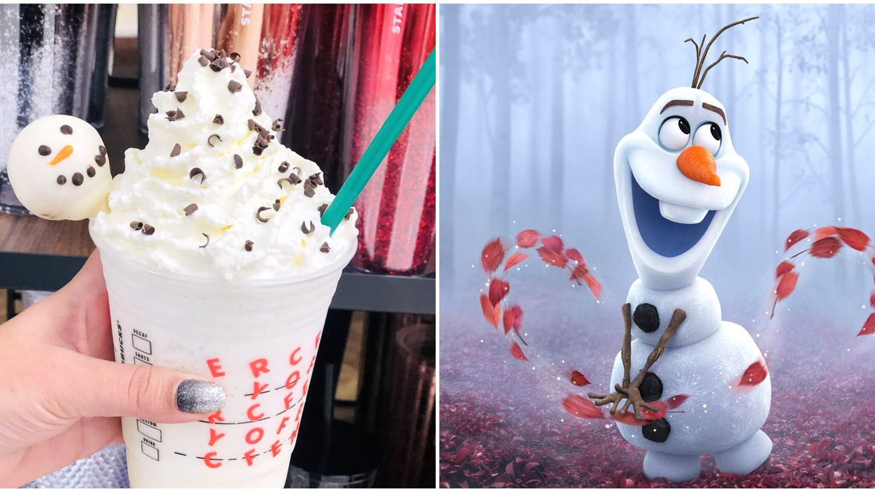 """Starbucks' Olaf Frappuccino Is A """"Frozen 2"""" Themed-Drink Disney Fans Will Love"""