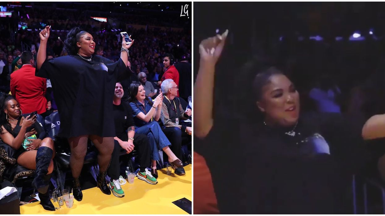 Fans Got A Lizzo Thong Dance At The Los Angeles Lakers Game & She Stole The Show