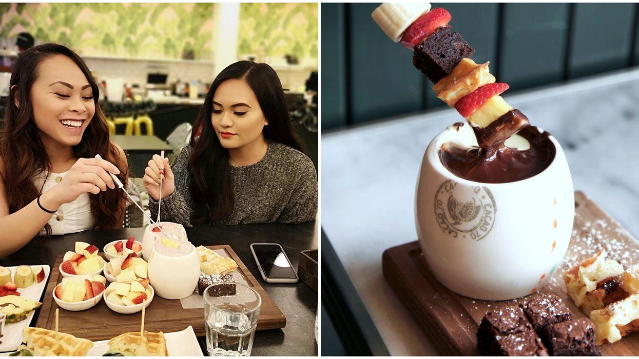 chocolate fondue in Edmonton