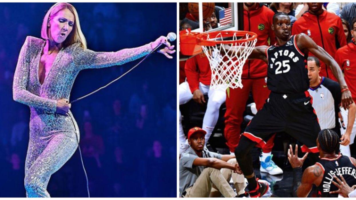 Celine Dion Was Seen Rocking A Huge Raptors Championship Ring Last Night