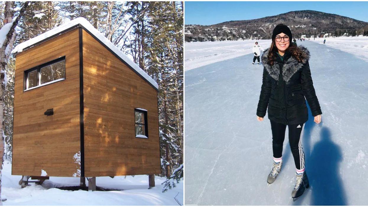Tu peux dormir dans cette mignonne Tiny House cet hiver tout près de Québec