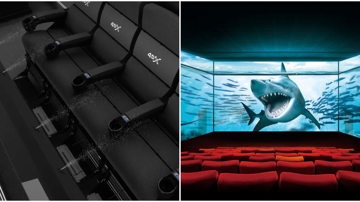Cineplex 4DX Movies Will Screen Across Canada With Moving Seats & Spraying Water
