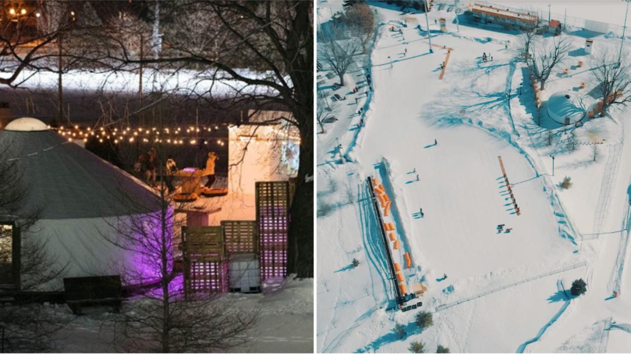 Tu peux faire du ski et du snow à petit prix sur cette pente au cœur de Montréal