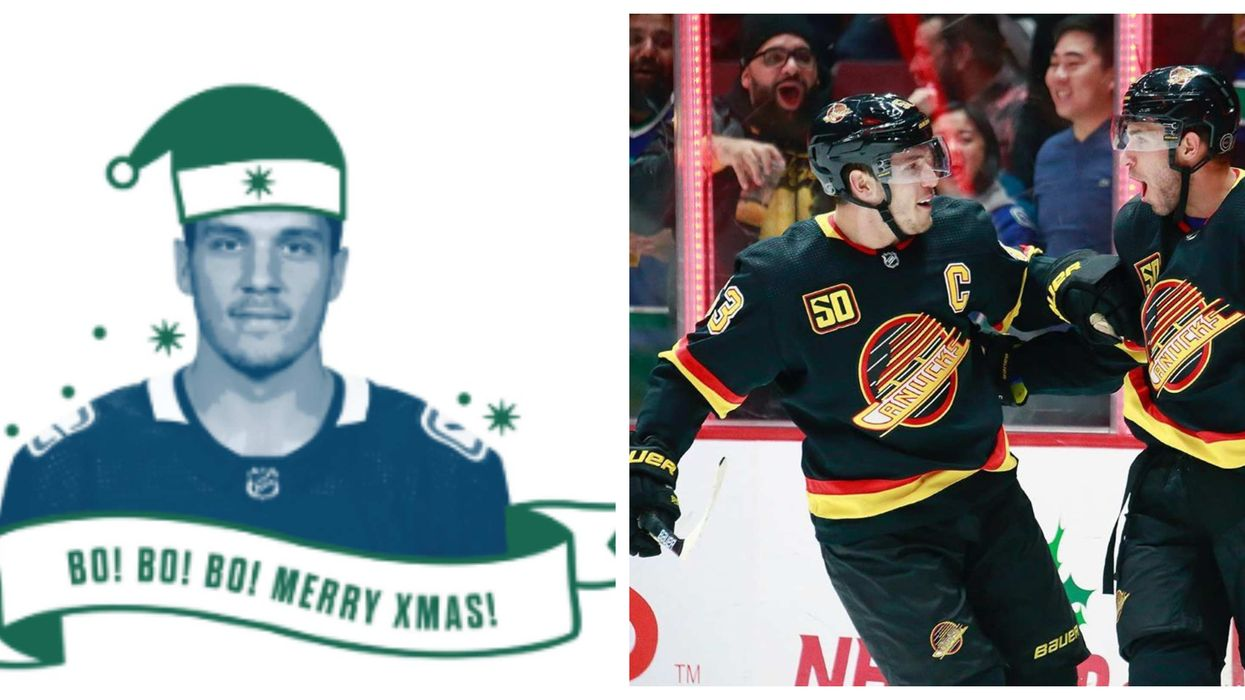 Vancouver Canucks' Christmas Cards Are Super Cheesy & Totally Free (PHOTOS)