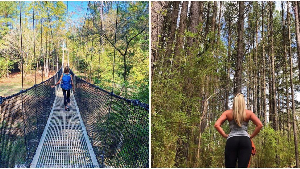 This North Carolina Trail With A Suspension Bridge Is Adventure Goals
