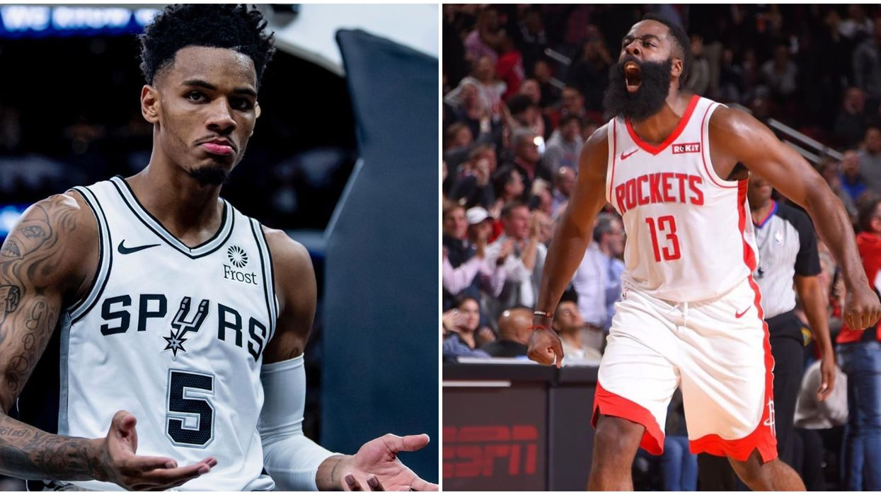 Dejounte Murray and James Harden Fought On The Court In Houston Last Night