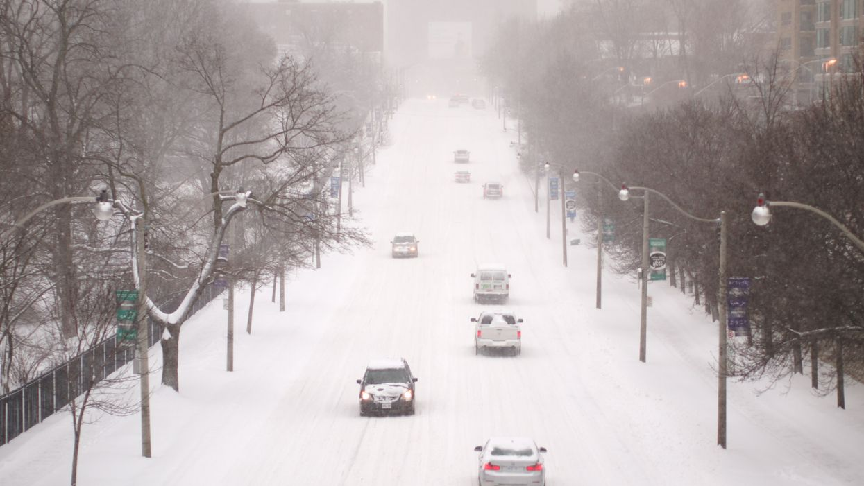 Toronto Road Conditions Are So Bad That There's Almost No Visibility