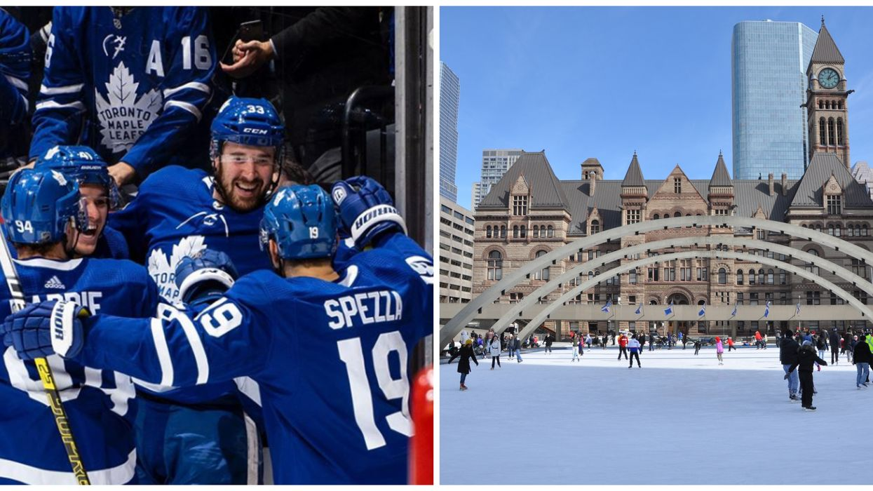 Toronto Maple Leafs Free Practice Is Taking Place At Nathan Philips Square This Winter