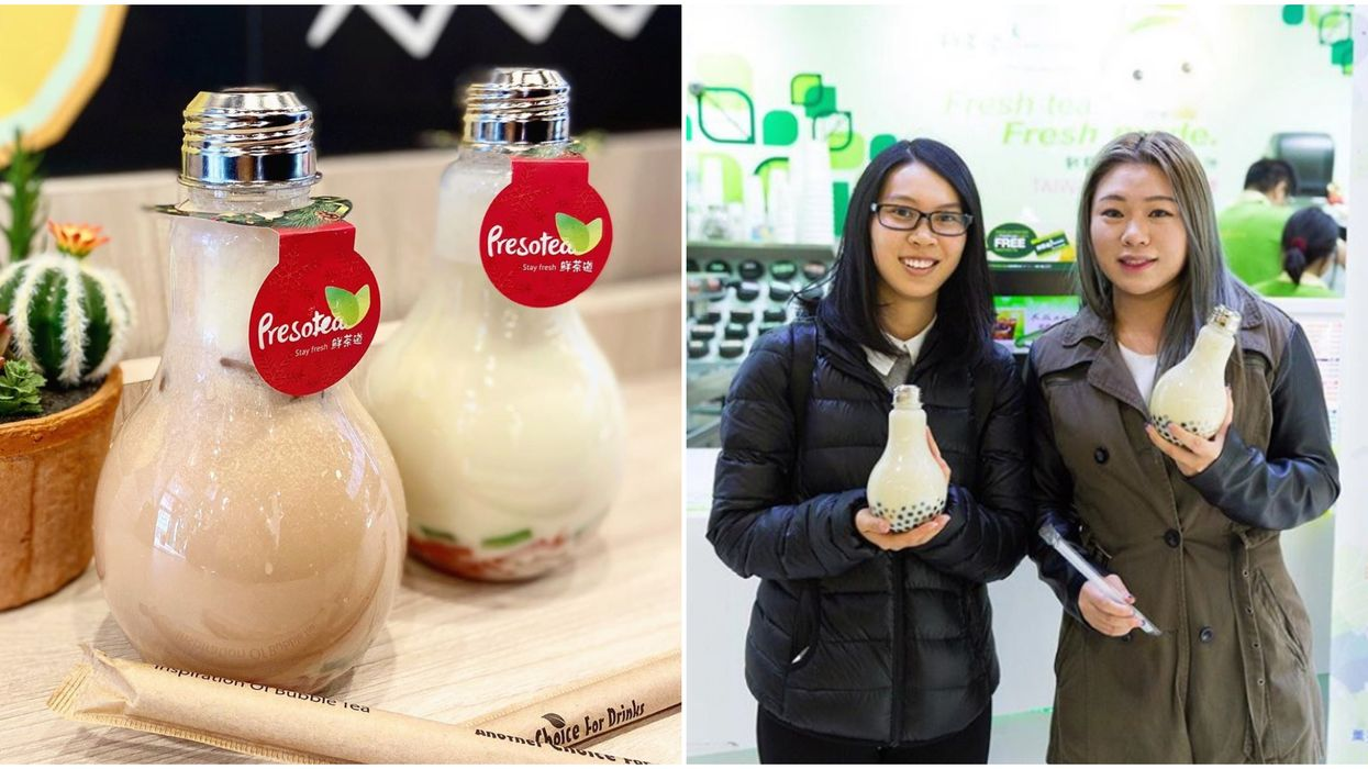 You Can Drink Christmas Bubble Tea From A Light Bulb For A Limited Time In Ontario