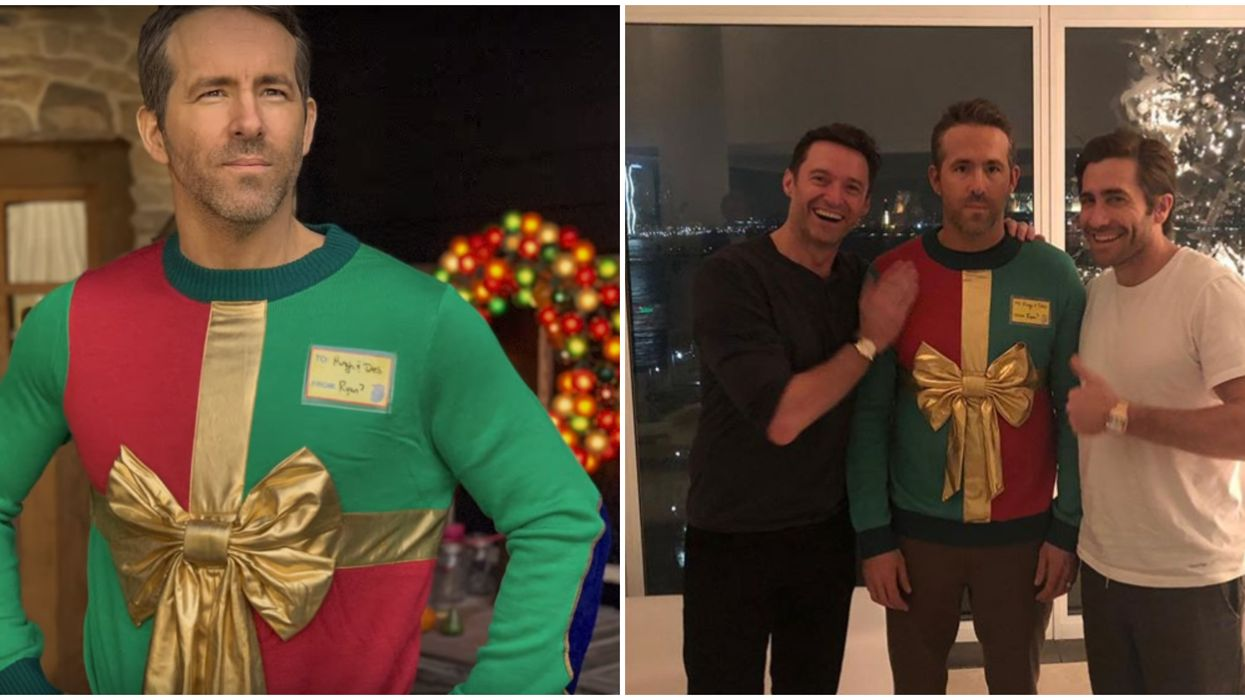 Ryan Reynolds Christmas Sweater Is Back For A Good Cause