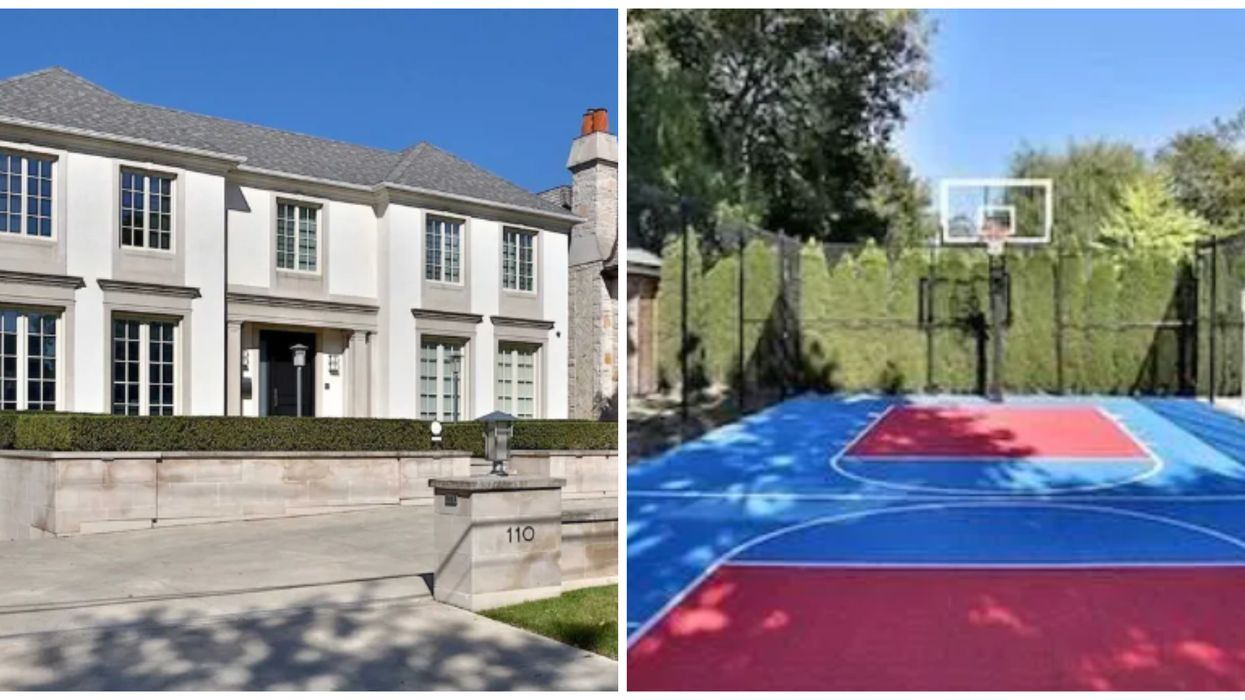 Toronto Mansion For Sale Comes With Its Own Basketball Court & Pool