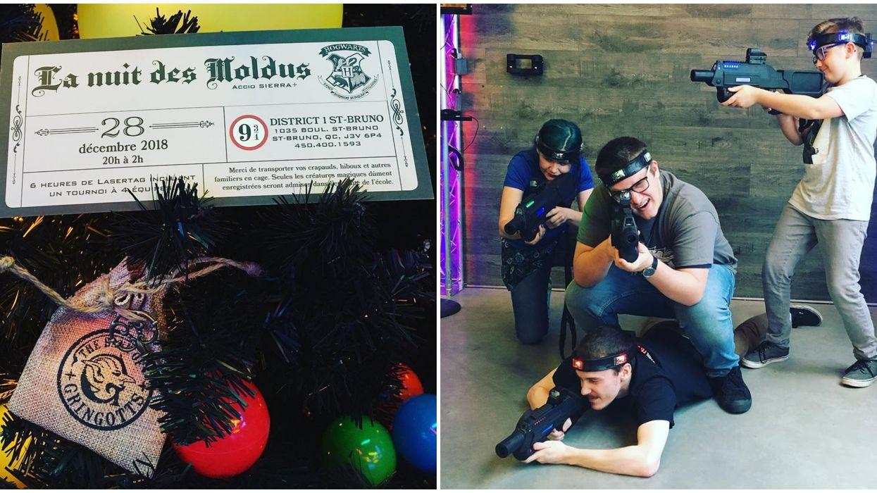 Ce Lasertag près de Montréal fait une thématique « Harry Potter » avec de la Butterbeer