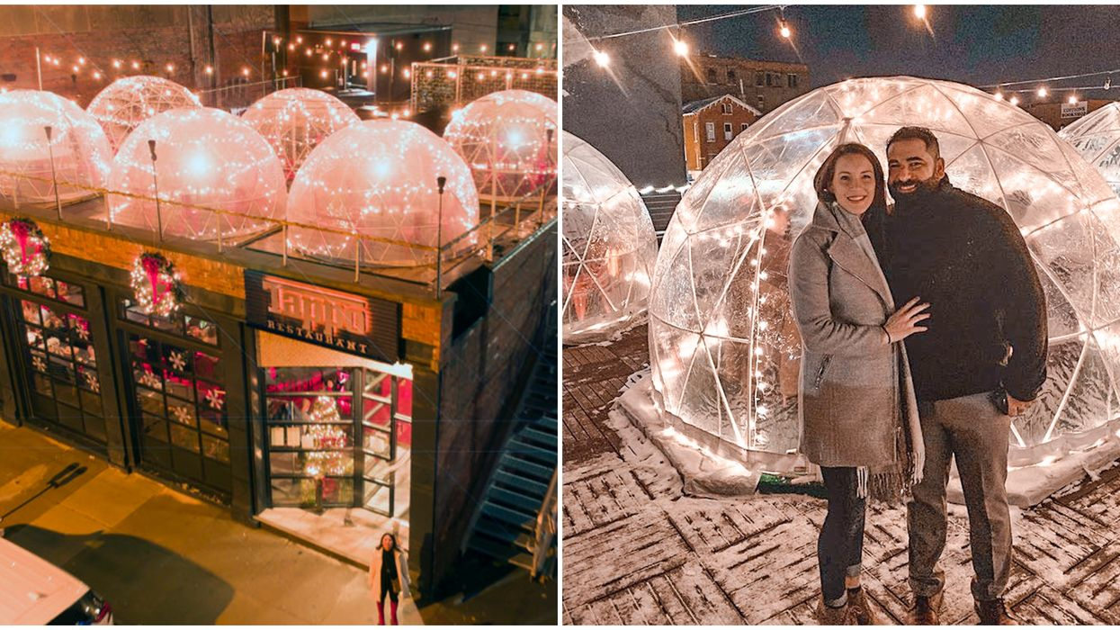 Tappo Igloo Restaurant Near Toronto Lets You Dine In A Rooftop Winter Village