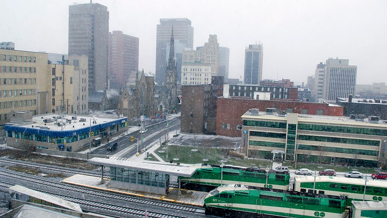 Hamilton LRT Rendering Picture Contains A Blockbuster Sign And People Are Confused