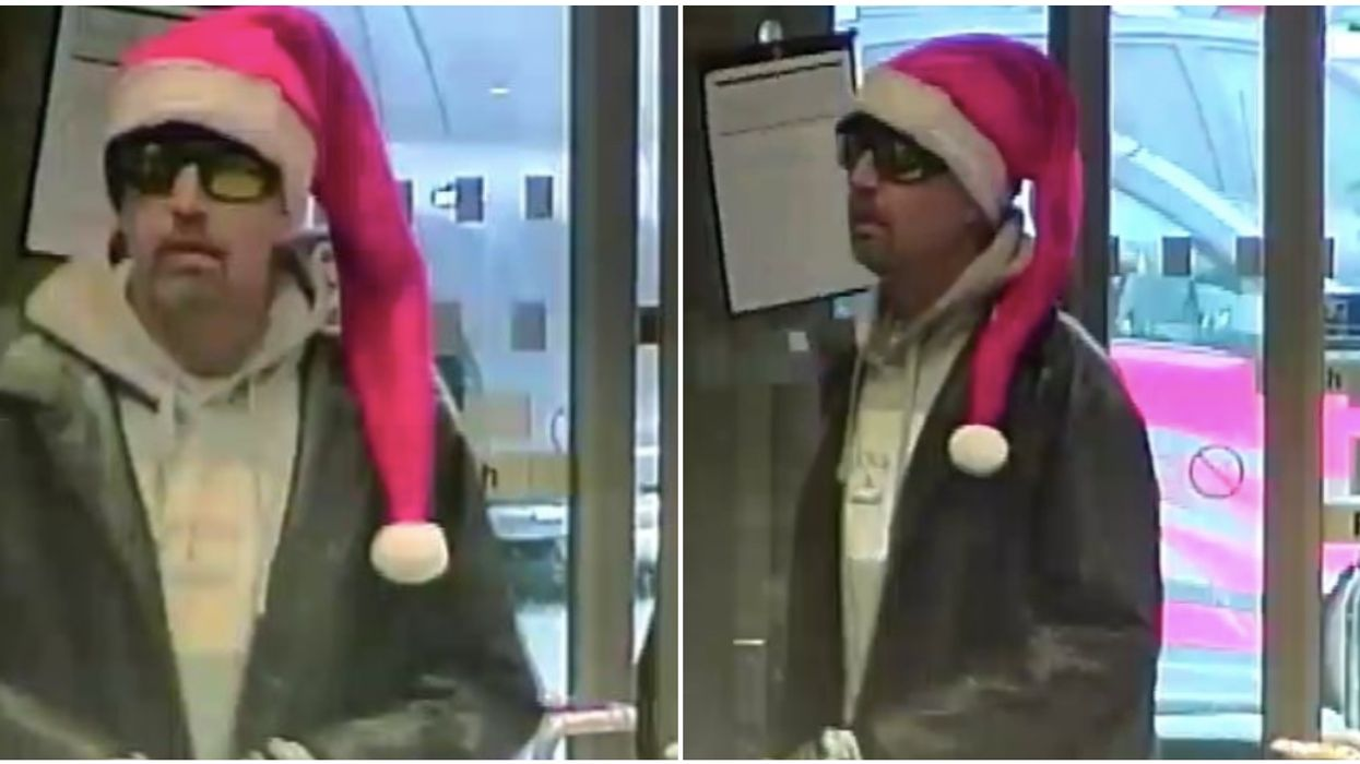 RCMP Are Looking For A Man In A Santa Hat That Robbed A Bank (PHOTOS)