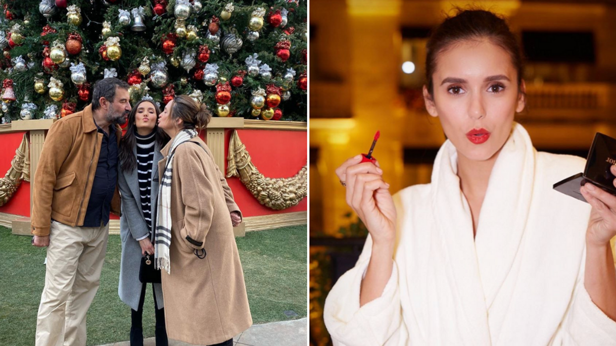 Nina Dobrev Is In Toronto For Christmas & Had A Very Special Visitor