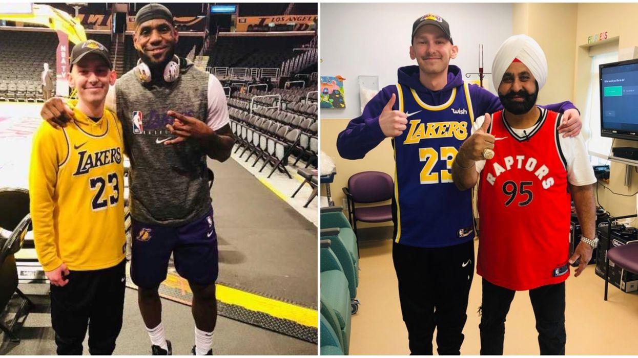 Nav Bhatia Helped An Ontario Teen With Cancer Meet LeBron James (PHOTOS)