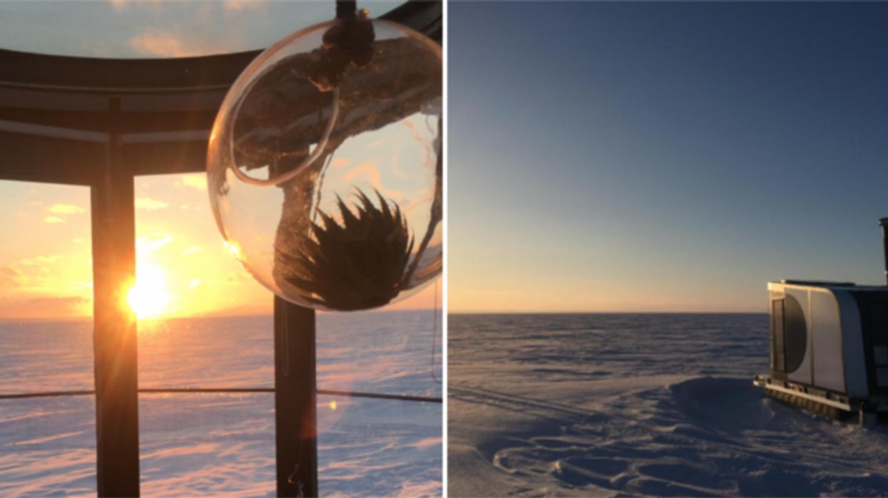 Tu peux dormir dans un désert de glace près de Québec et c'est magnifique