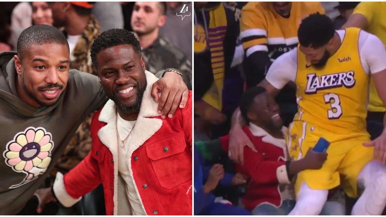 Anthony Davis and Kevin Hart Become A Meme After This Hilarious Lakers Game