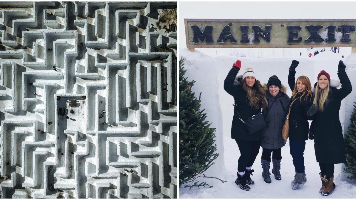 Manitoba's Giant Snow Maze Is The Largest In The World & It Opens January 4, 2020