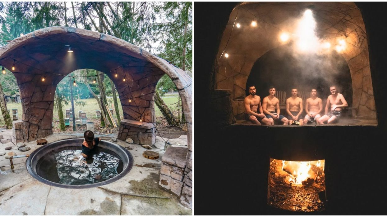 This Hot Tub In Washington Is The Perfect Winter Getaway Over Actual Fire
