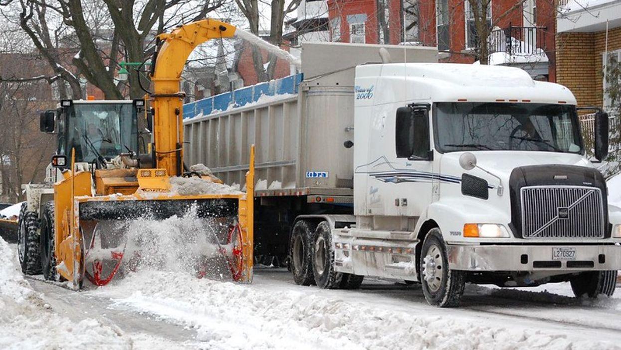 Le chargement de la neige n'aura pas lieu avant quelques jours à Montréal