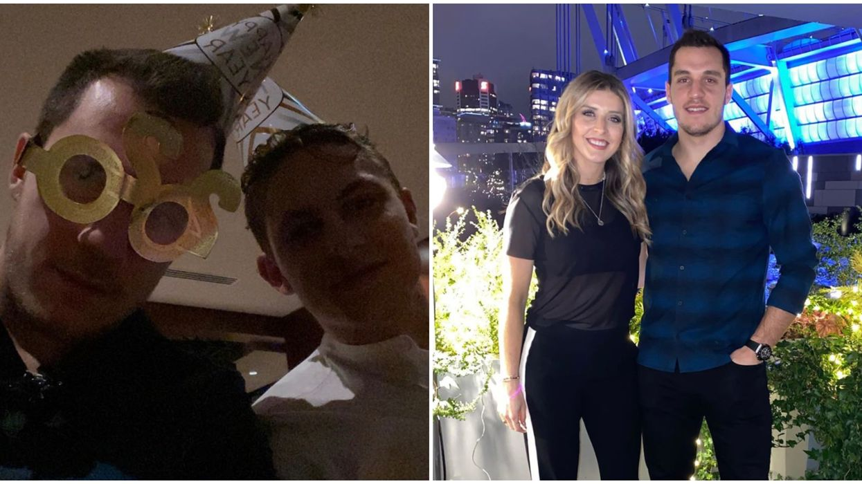 The Canucks Spent NYE Partying At A Vancouver Rooftop Restaurant (PHOTOS)