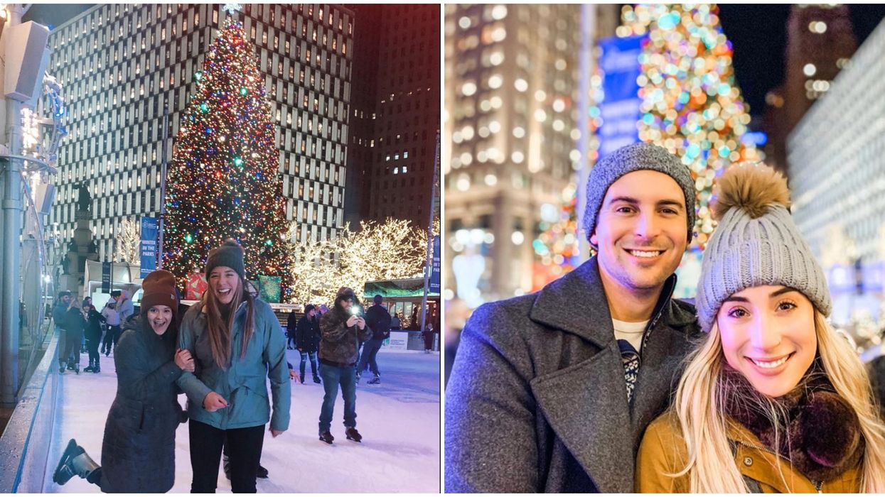 This Charming Detroit Ice Rink Will Make You Feel Like You're Skating In New York City