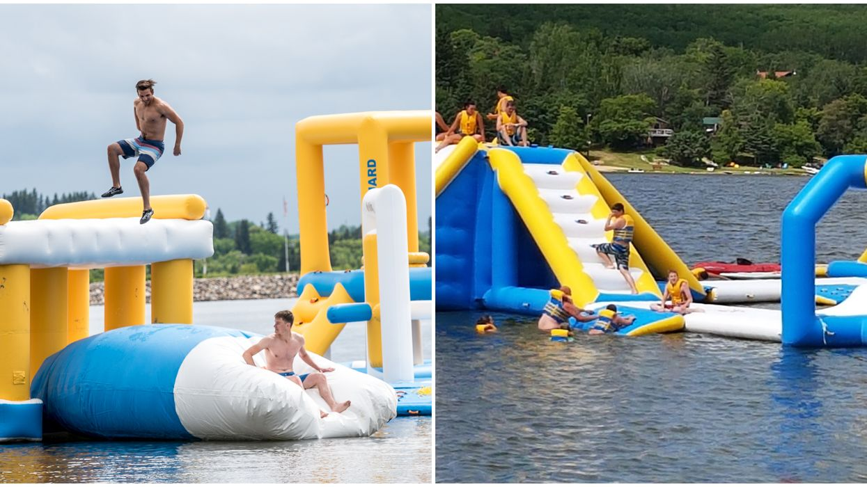 Manitoba's Floating Water Park Is Massive & Will Make You Dream Of Summer (PHOTOS)