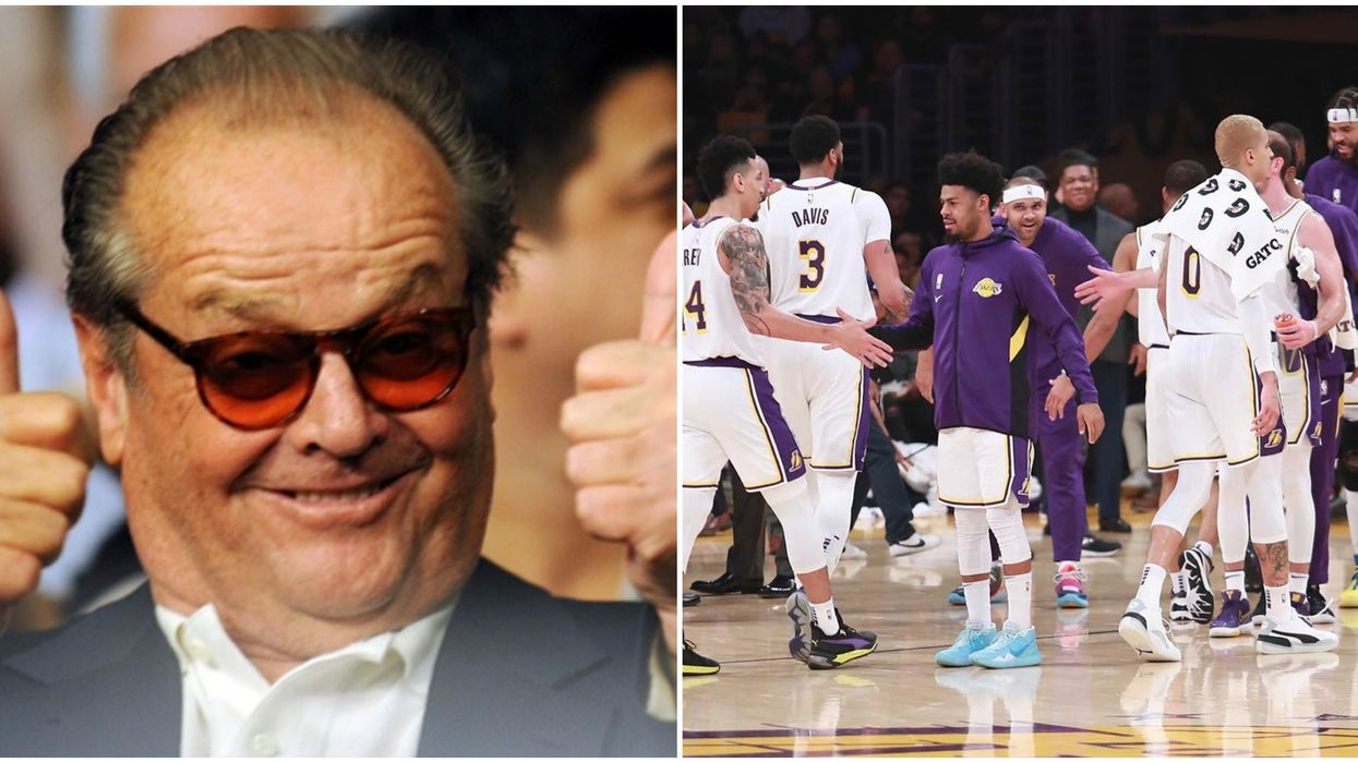 Rare Jack Nicholson Lakers Appearance Last Night in Los Angeles