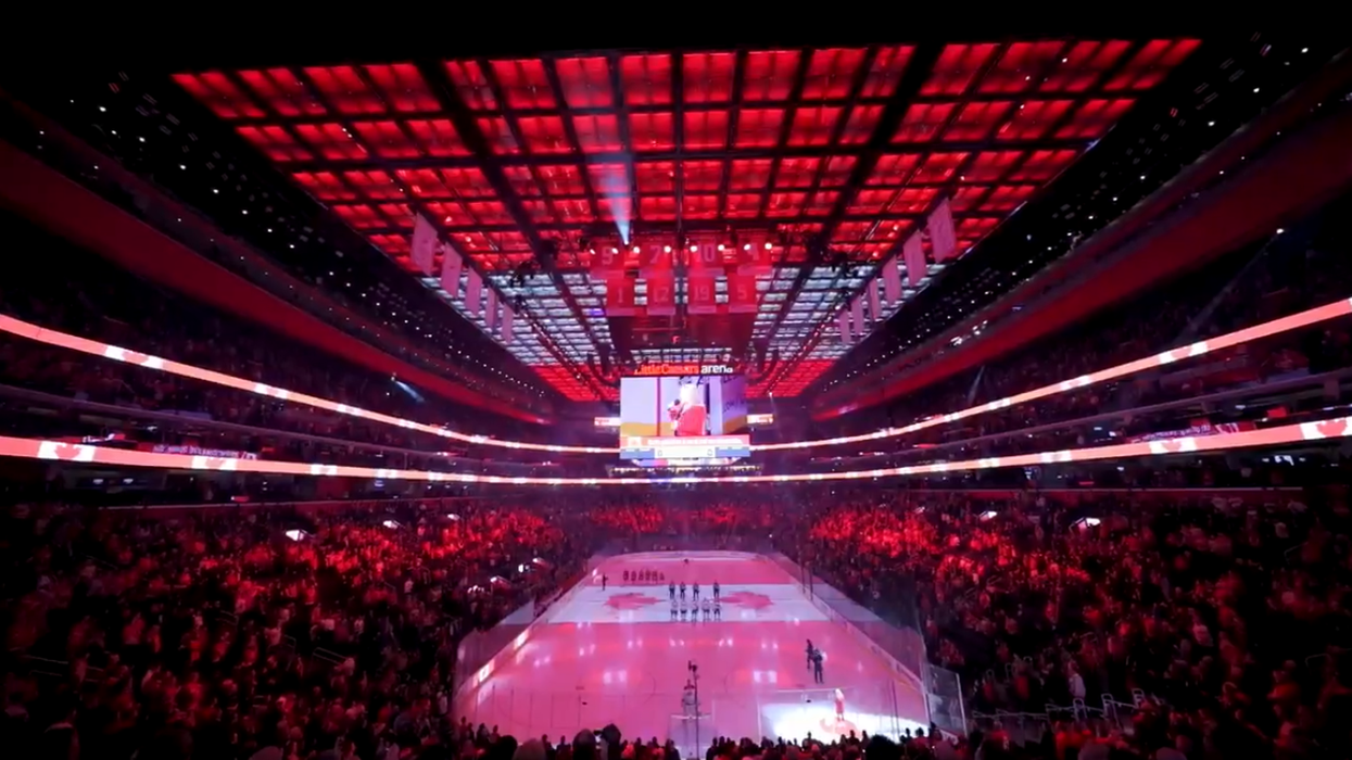Fans Start Singing The Canadian Anthem At A Detroit NHL Game After The Mic Died (VIDEO)