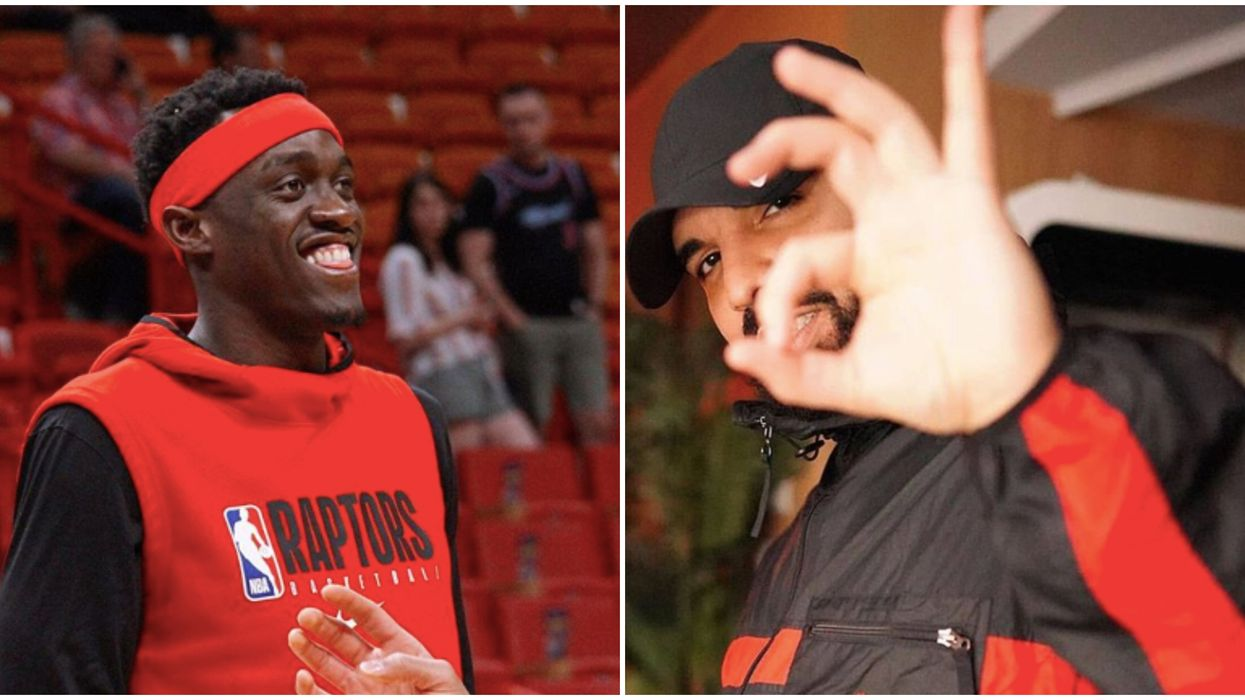 Pascal Siakam Tried To Master Drake's 6ix Sign But Ended Up Confusing Serge Ibaka