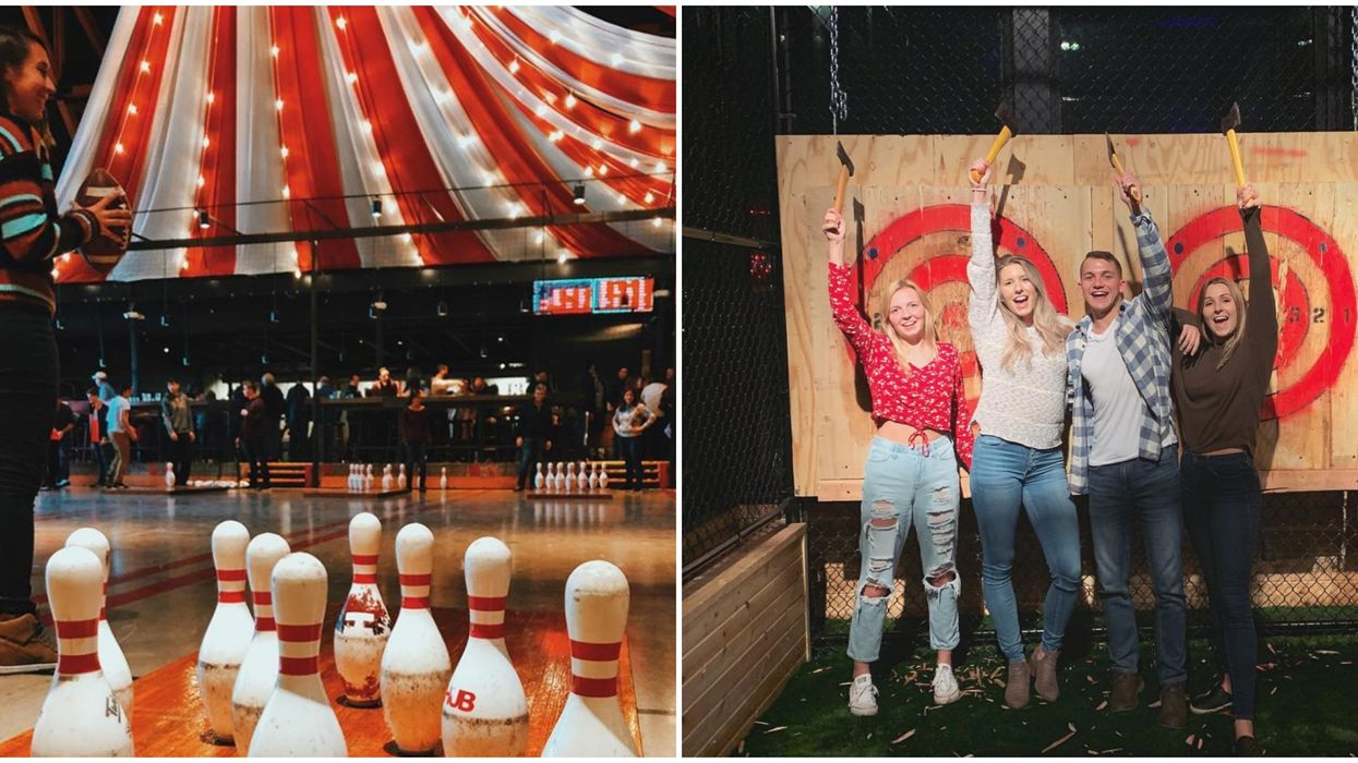 Axe Throwing Is Among The Activities You Can Do With Friends At This Detroit Bar