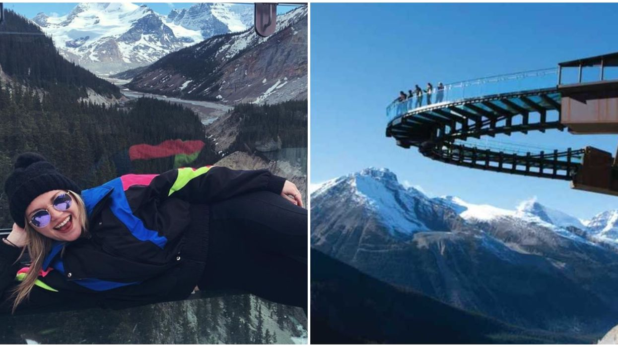 Alberta's Breathtaking Glass Trail Is 918 Feet In The Air & You Can Hike It This Spring
