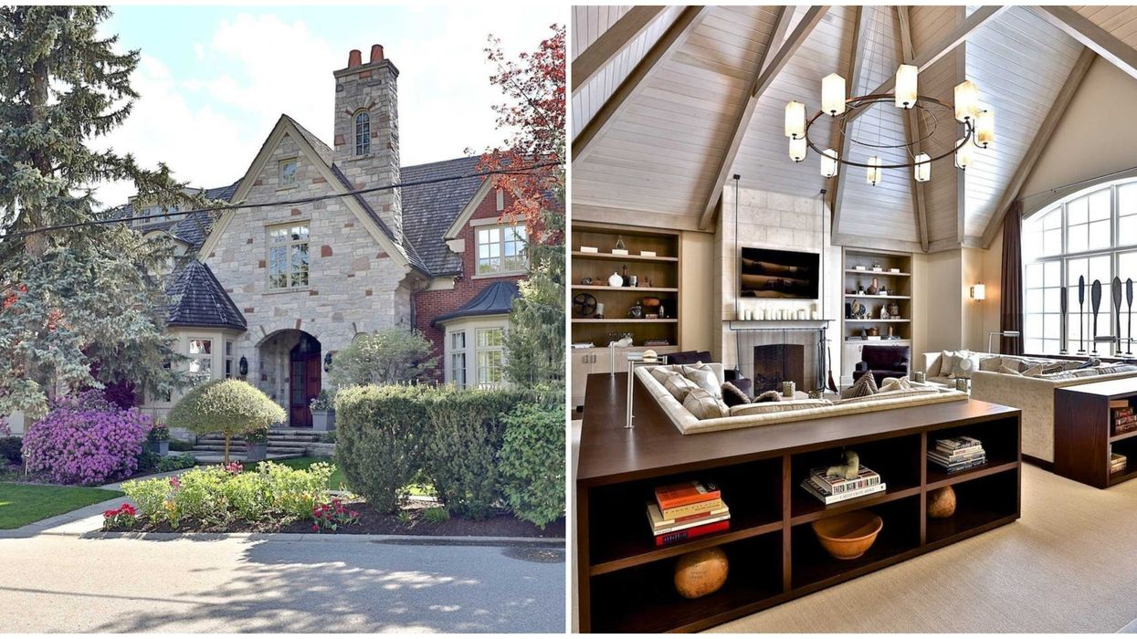 Toronto Mansion For Sale Has It's Own 2-in-1 Court That's Perfect For Sports Lovers