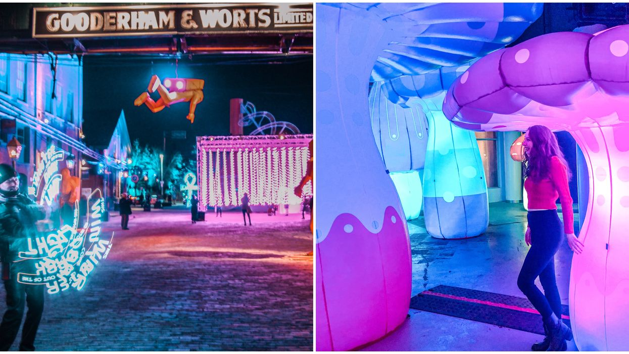 Toronto Light Festival Is Officially Open & Here's What It Looks Like (PHOTOS)