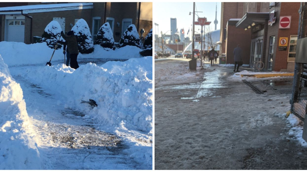 Toronto Snowstorm Is Still Being Cleaned Up By The City & Residents Are Complaining