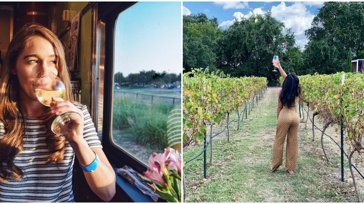 You Can Sip Wine On A Train That Takes You Through The Texas Hill Country