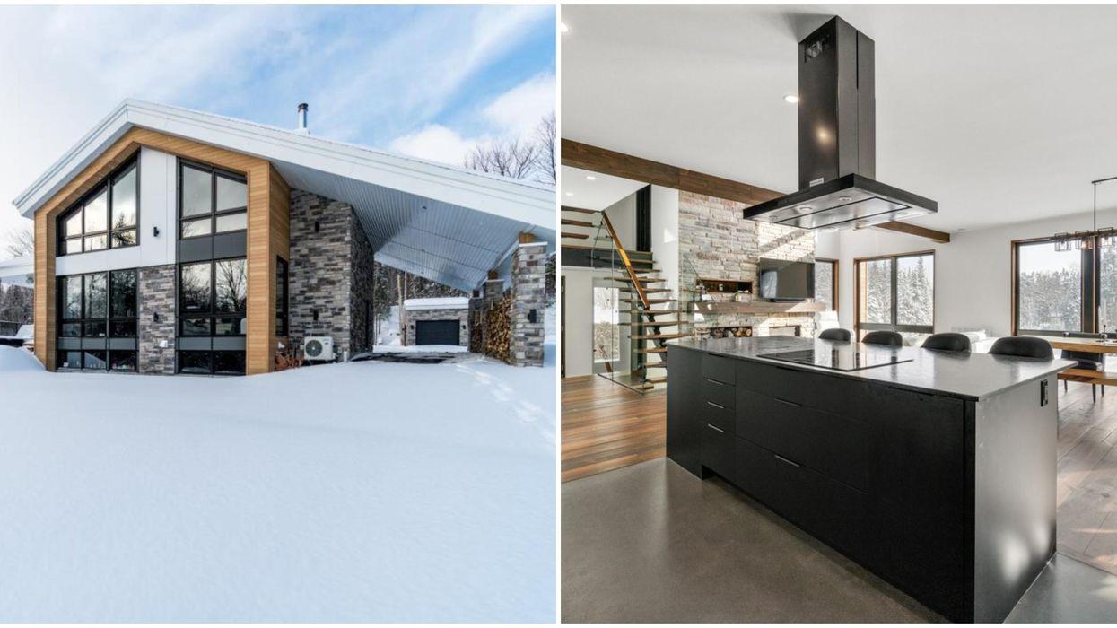 Maison de 1,2 millions de dollars en nature près de Québec