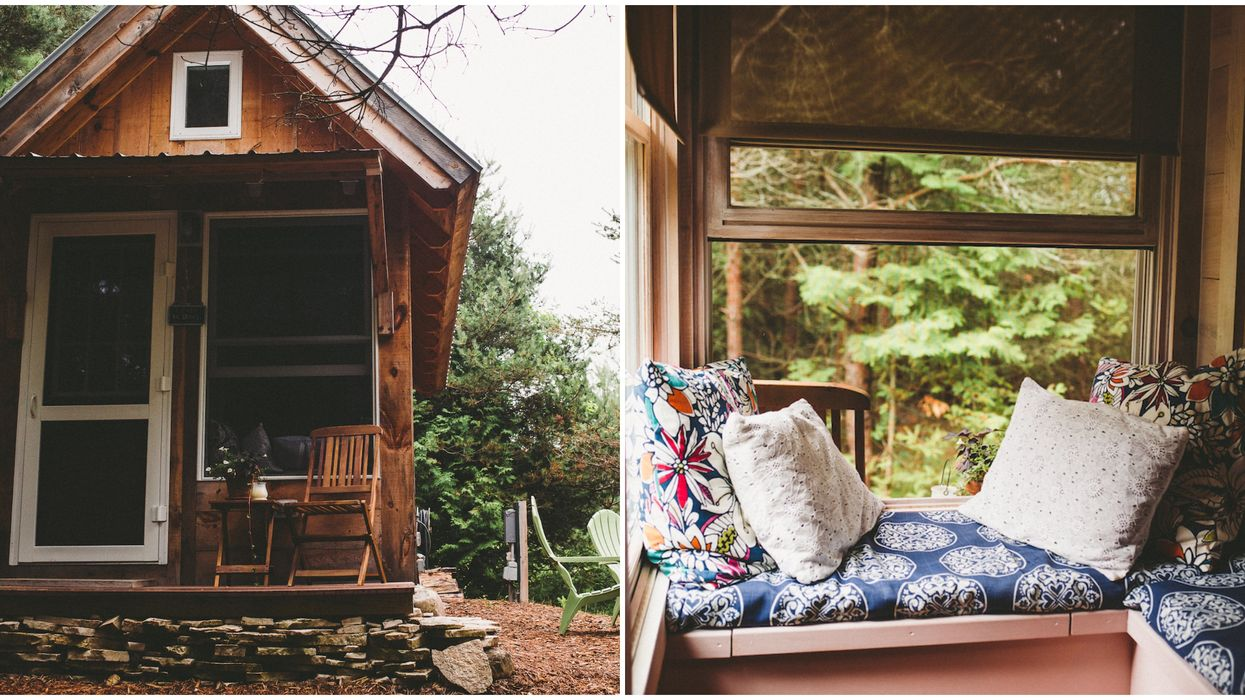 Michigan's Airbnb Tiny Home Is The Coziest Couple's Getaway