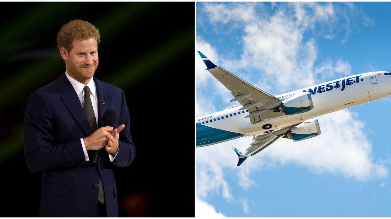 Prince Harry's WestJet Flight Has People Talking