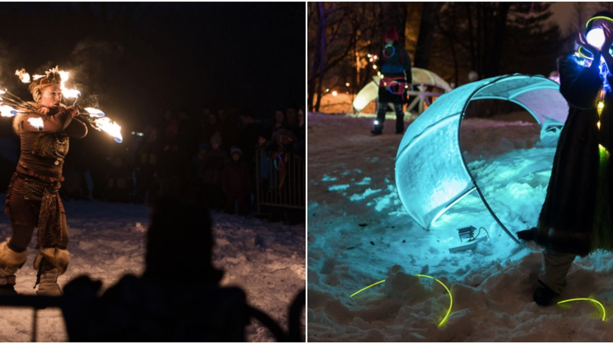 Cette forêt enchantée et illuminée te fera passer une soirée magique à Québec